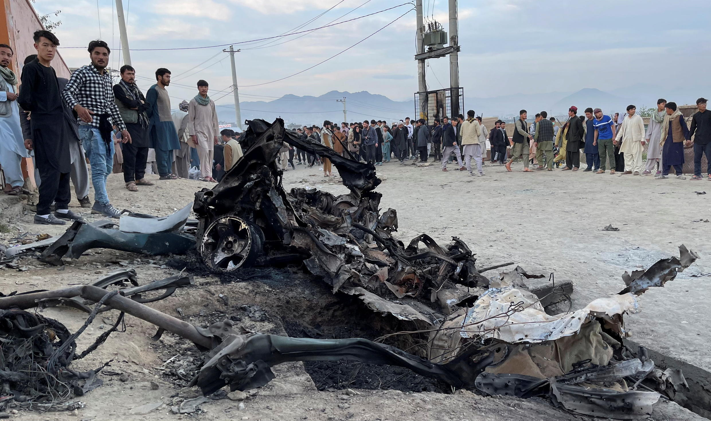 Site of a deadly attack on a school in the Dasht-e-Barchi neighborhood on May 8, 2021, Kabul