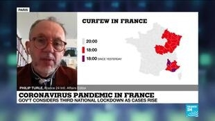 2021-01-13 11:03 France likely to  have to take tougher measures due to virus variants