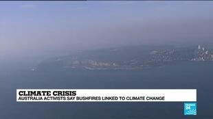 2019-12-02 07:42 Australia activists argue bushfires are linked to climate change