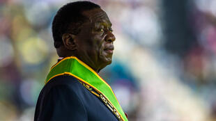 Le nouveau président du Zimbabwe, Emmerson Mnangagwa, le 24 novembre 2017 lors de sa prestation de serment.