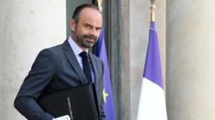 Le Premier ministre Édouard Philippe quittant le palais de l'Élysée, le 19 septembre 2018.