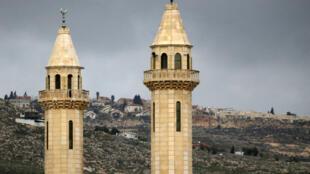 La mosquée d'Hawara, en Cisjordanie.