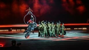 The acrobatic troupe performed in Riyadh to mark the Saudi national day, more than a month after the kingdom expelled Canada's ambassador and froze all new trade following Ottawa's vigorous calls for the release of activists jailed in the Gulf state