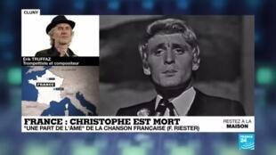 """2020-04-17 14:10 """"Tout sa vie c'était la musique"""" : Christophe s'est éteint à 74 ans"""