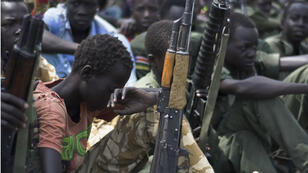 D'anciens enfants-soldats au Sud-Soudan, en février 2015.