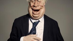 La marionette représentant Boris Johnson pour l'émission britannique Spitting Image. Photo AFP/ Avalon/Britbox/Mark Harrison, du 2 octobre 2020