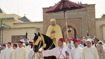 الملك محمد السادس أثناء حفل مراسم البيعة