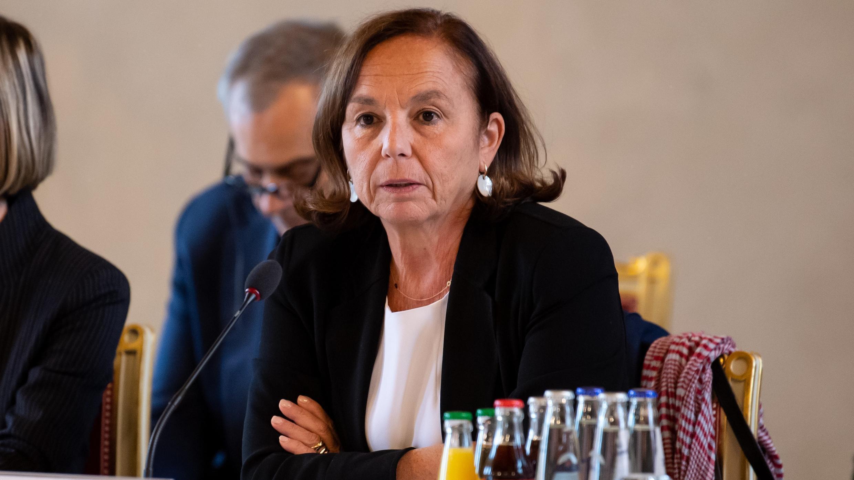"""La ministra del Interior de Italia, Luciana Lamorgese, asiste a la """"reunión de ministros del interior del G6"""" en Munich, sur de Alemania, el 28 de octubre de 2019. Foto de archivo."""