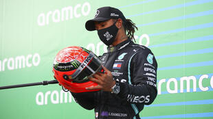 'It's the highest sign of respect said  Lewis Hamilton said at the Nurburgring after receiving a second Michael Schumacher helmet