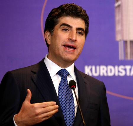 نيشيرفان بارزاني رئيس وزراء إقليم كردستان العراق وابن أخي مسعود بارزاني.