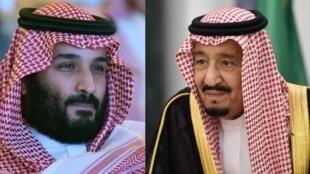 الملك سلمان بن عبد العزيز آل سعود وولي العهد الأمير محمد بن سلمان