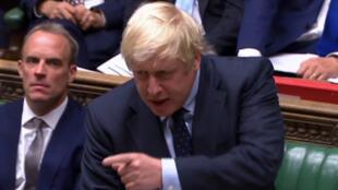 Le Premier ministre britannique Boris Johnson au Parlement le 3 septembre 2019.