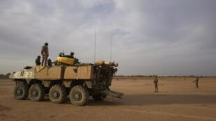 Des soldats français en opération dans le nord du Burkina Faso le 9 novembre 2019