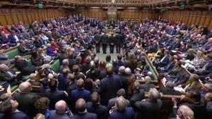 رئيسة الوزراء البريطانية تيريزا ماي أمام  مجلس النواب - 13 مارس/آذار 2019