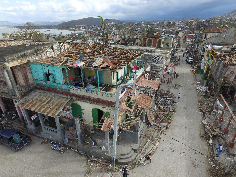 La ville de Jeremie, dans l'ouest de Haïti, le 7 octobre 2016.
