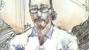 كارولين تيكس, جوزف شميد | جواد بن داوود عند مثوله أمام المحكمة في باريس في 24 كانون الثاني/يناير 2018