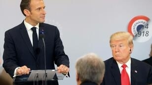 French President Emmanuel Macron says his outlook on the world is very different to that of US President Donald Trump