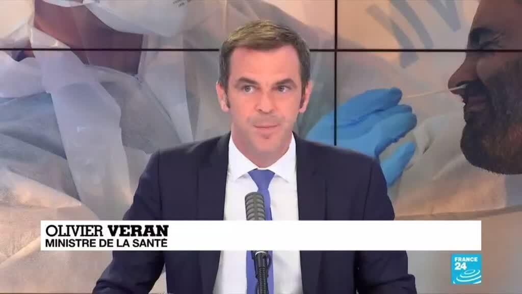 Le ministre de la Santé, Olivier Véran, s'est exprimé au sujet de la pandémie de Covid-19 en France.