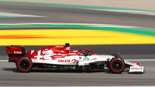 Alfa Romeo's Kimi Raikkonen will set a new record of 323 starts in Formula One at the Nurburgring on Sunday