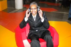 Michael Peter, responsable technique de l'exposition (Photo: E.V.)