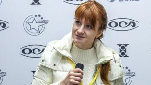 Maria Boutina lors d'une conférence de presse à Moscou, le 8 octobre 2013.