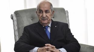 Algerian President Abdelmadjid Tebboune Algiers on January 21, 2020 OK AFP