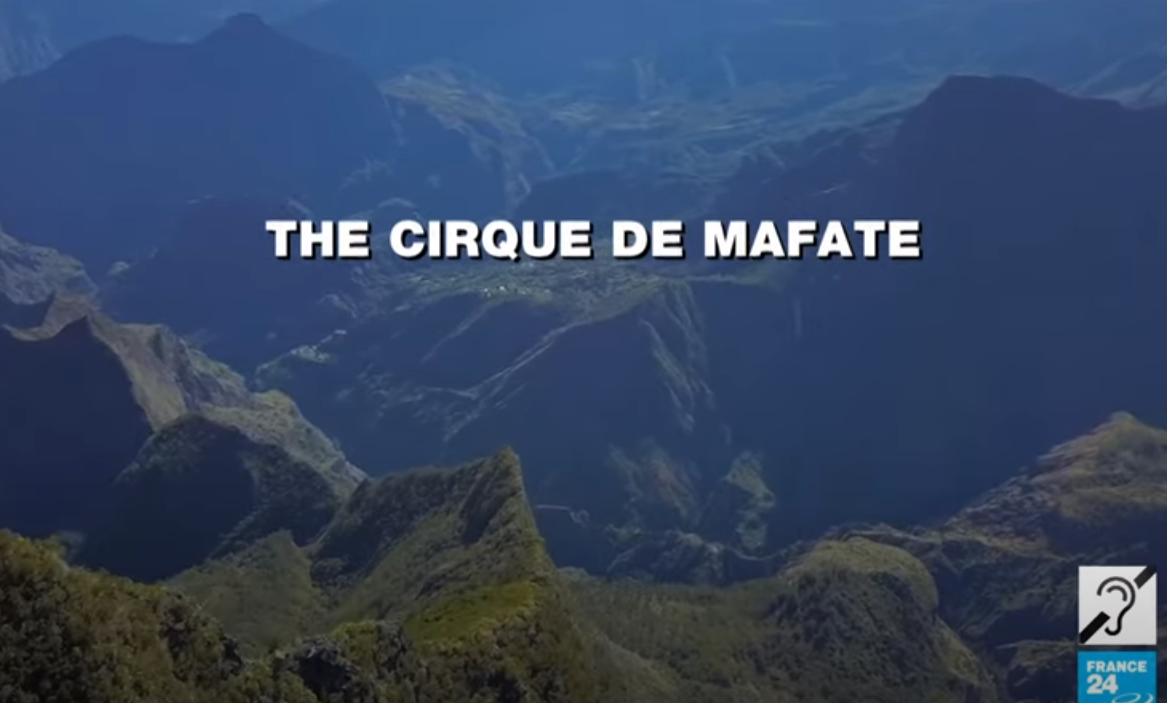 Located in the middle of Reunion Island, the Cirque de Mafate attracts nearly 100,000 hikers every year.  Listed as a World Heritage Site, it resembles a huge natural amphitheatre cut off from the rest of the world with no roads and only limited access via hiking trails or helicopter.