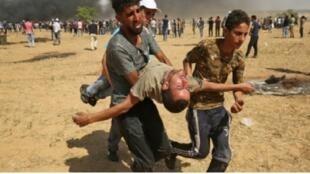 مواجهات على الحدود بين غزة وإسرائيل، 8 حزيران/يونيو 2018.