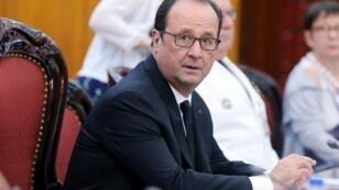 الرئيس الفرنسي فرنسوا هولاند في هانوي في السادس من أيلول/سبتمبر