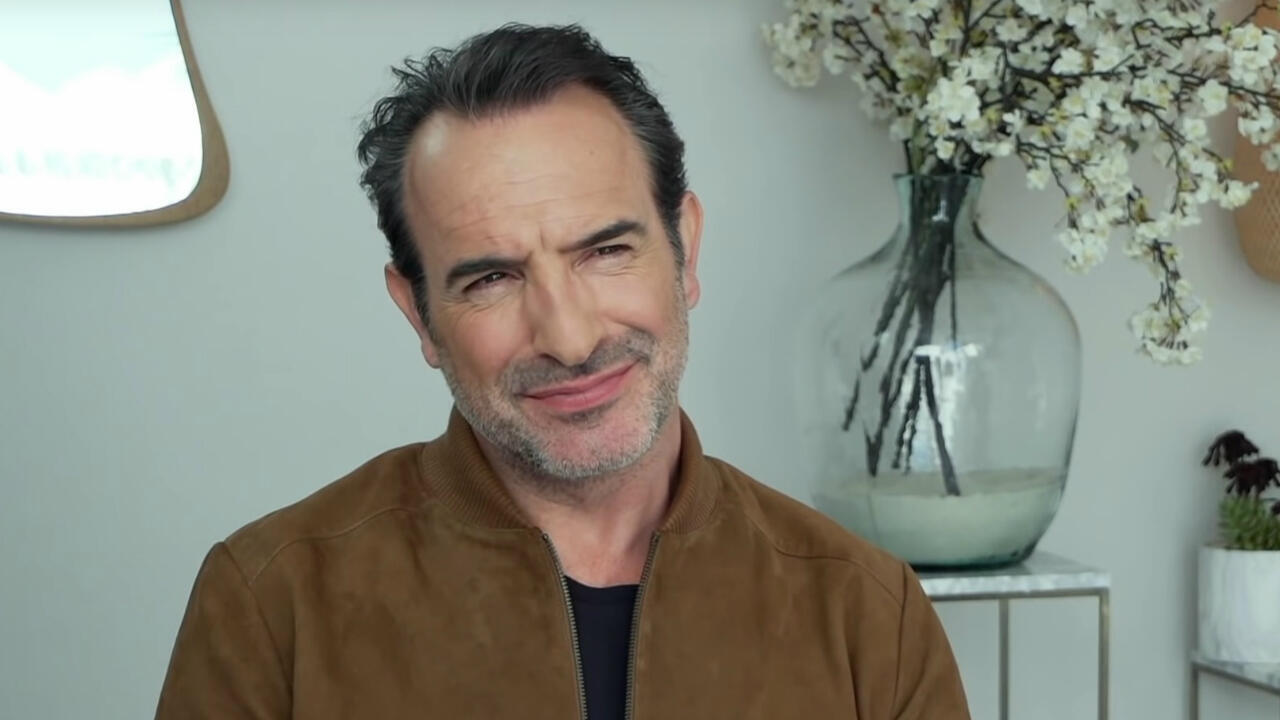 FRANCE 24 screengrab | French actor Jean Dujardin speaks to FRANCE 24 at the Cannes Film Festival