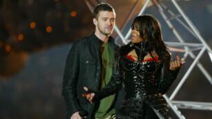 Justin Timberlake et Janet Jackson à la mi-temps du Super Bowl en 2004.