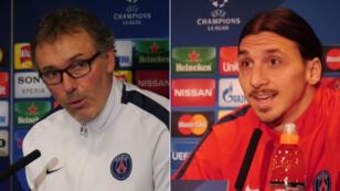 Zlatan Ibrahimovic et Laurent Blanc ont répondu à la presse, à 24 heures de Chelsea - PSG.