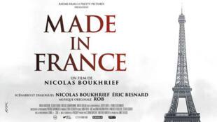 """La nouvelle affiche du film """"Made in France"""" ne représente plus la Tour Eiffel en kalachnikov."""