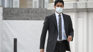 Paris Saint-Germain president Nasser Al-Khelaifi arrives at the court in Switzerland