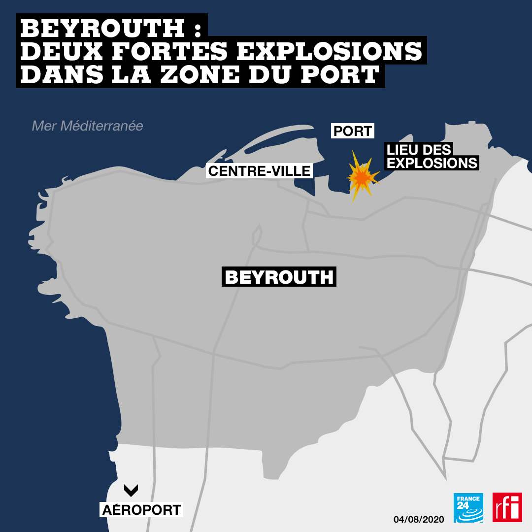 Une très puissante explosion a secoué mardi 4 août le port de Beyrouth.