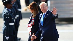الرئيس الأمريكي دونالد ترامب وزوجته ميلانيا.