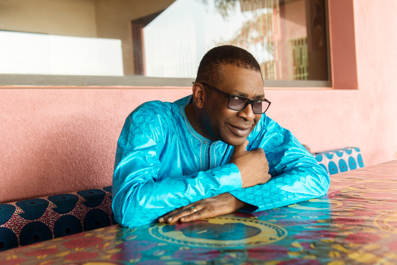 Le chanteur, homme politique et patron de presse Youssou N'Dour en 2018.