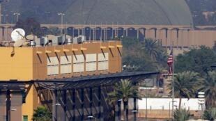 مقر السفارة الأمريكية في بغداد. 7 يناير/كانون الثاني 2020.