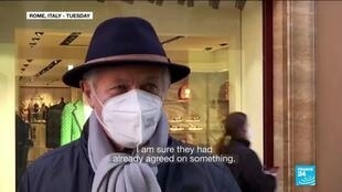 2021-01-26 15:01 Italians show discontent as PM Conte resigns following pandemic criticism