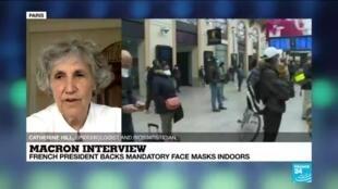 "2020-07-14 16:05 Macron backing mandatory mask use is ""second best solution: we must test"" epidemiologist says"