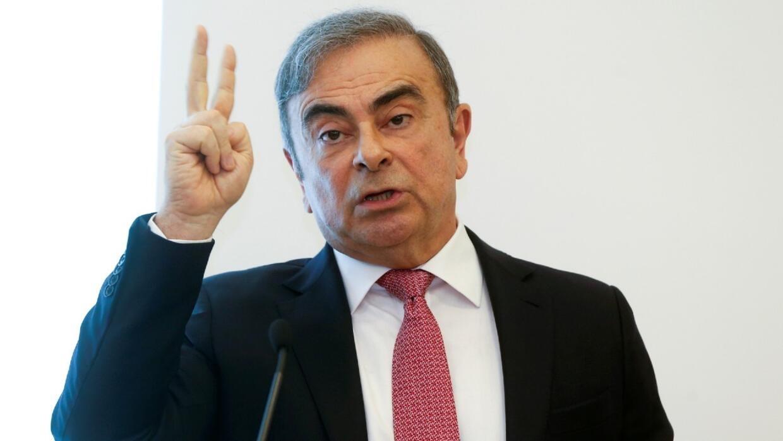 L'ancien président de Renault-Nissan Mitsubishi, Carlos Ghosn, lors d'une conférence de presse à Beyrouth, le 8 janvier 2020.