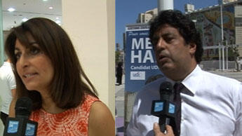 Valérie Hoffenberg (UMP) et Meyer Habib (UDI)