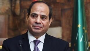 Le président égyptien Abdel Fattah al-Sissi à Abidjan le 11 avril 2019.