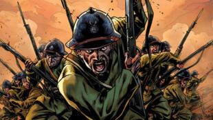 """La couverture de la bande dessinée """"The Harlem Hellfighters"""""""