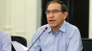 Allocution du président péruvien Martin Vizcarra, le 1er janvier 2018.