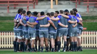 Les All Blacks à l'entraînement vendredi 19 août avant d'affronter l'Australie samedi.