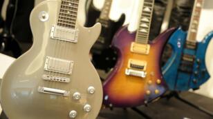Collection de guitares Gibson du guitariste des Guns N' Roses, Slash.