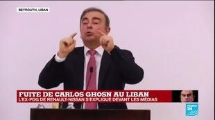 2020-01-08 14:01 REPLAY - Carlos Ghosn s'explique devant les médias au Liban