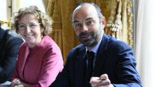 La ministre du Travail Muriel Pénicaud et le Premier ministre Édouard Philippe, le 25 juillet 2017, à Matignon.