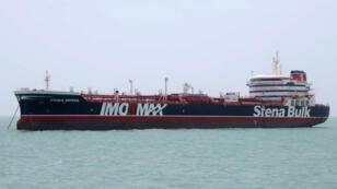 Le Stena Impero, ancré près du port de Bandar Abbas, au sud de l'Iran, le 20 juillet 2019.